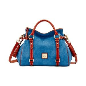 Dooney & Bourke Medium Suede Satchel Shoulder Bag